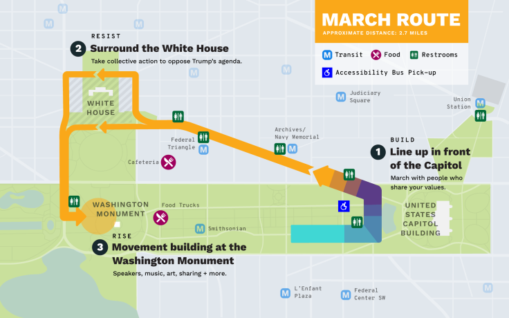 Peoples Climate March Route