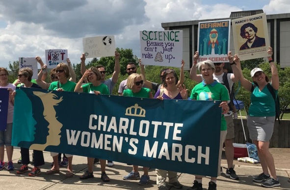 CWM banner at March for Science