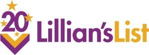 Lillians List 20th Anniversary logo